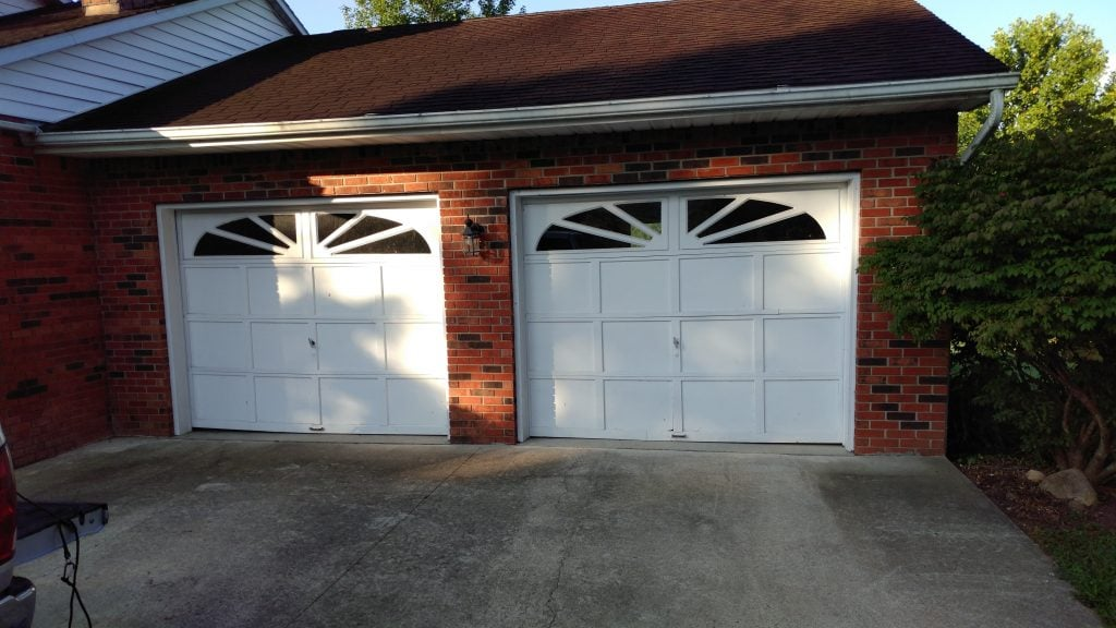 Before - Old garage doors